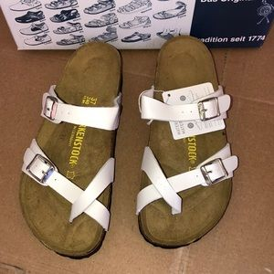 Birkenstock Shoes - Birkenstock Mayari White Sandals